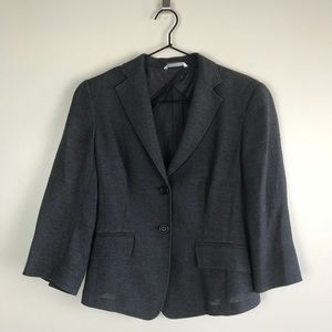 MaxMara — Heather Grey Simple Blazer